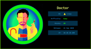 Doctor HackTheBox WalkThrough