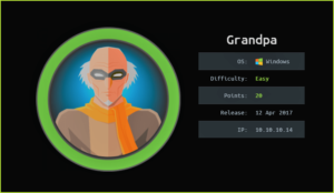 Grandpa HackTheBox WalkThrough