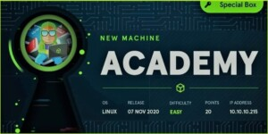 Academy HackTheBox WalkThrough