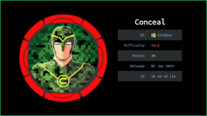 Conceal HackTheBox WalkThrough