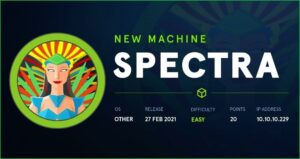 Protected: Spectra HackTheBox WalkThrough